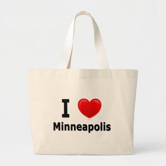 I Love Minneapolis Large Tote Bag