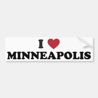 I Love Minneapolis Minnesota Car Bumper Sticker
