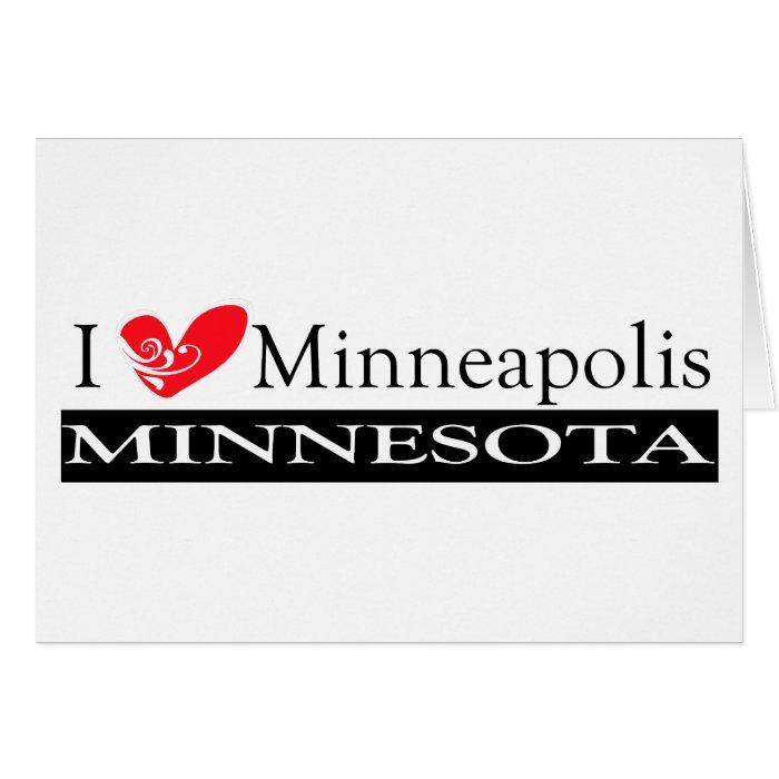 I Love Minneapolis Minnesota Card
