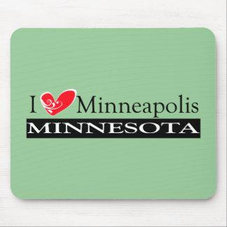 I Love Minneapolis Minnesota Mousepad