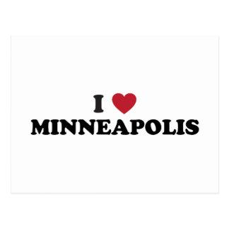 I Love Minneapolis Minnesota Postcard