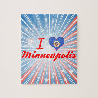 I Love Minneapolis Minnesota Puzzles