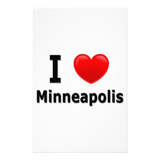 I Love Minneapolis Personalized Stationery