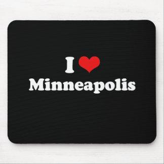 I Love Minneapolis Tshirt White Tshirt Mouse Pad