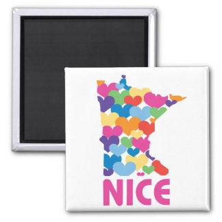 I love Minnesota 2 Inch Square Magnet