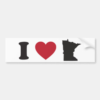 I Love Minnesota Bumper Sticker