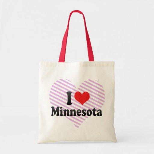 I Love  Minnesota Canvas Bag