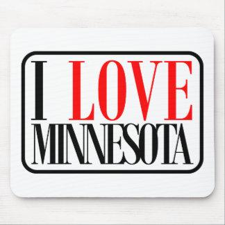 I Love Minnesota Design Mouse Pad