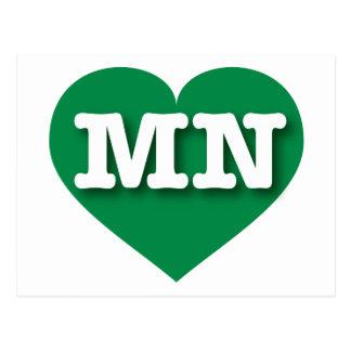 I love Minnesota green heart Postcards