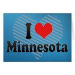I Love  Minnesota Greeting Card