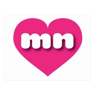 I love Minnesota hot pink heart Post Cards