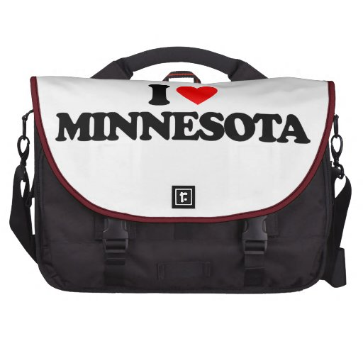 I LOVE MINNESOTA LAPTOP COMMUTER BAG
