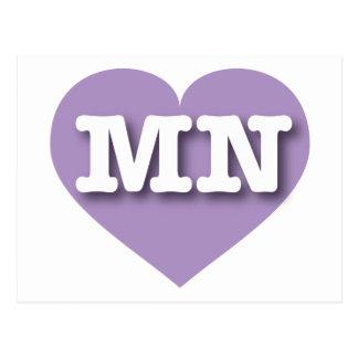 I love Minnesota lavender heart Postcards