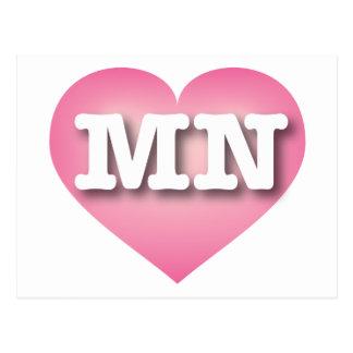 I love Minnesota pink fade heart Post Card