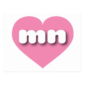 I love Minnesota pink heart Postcards