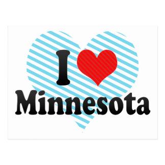 I Love  Minnesota Post Card
