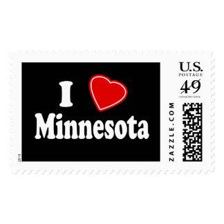 I Love Minnesota Postage Stamps