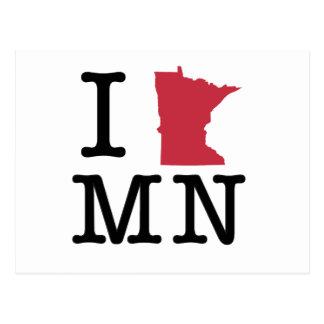 I Love Minnesota Postcard