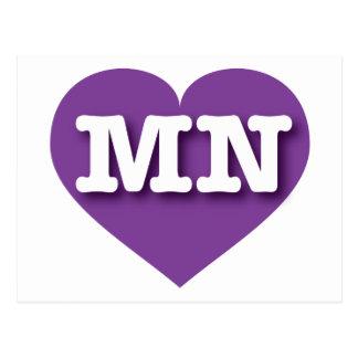 I love Minnesota purple heart Postcard
