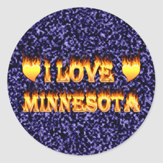 I love minnesota round stickers