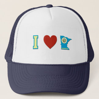 I Love Minnesota Trucker Hat