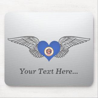 I Love Minnesota -wings Mouse Pad
