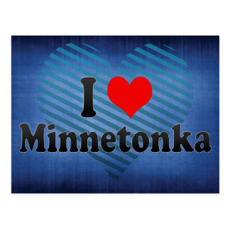 I Love Minnetonka, United States Postcard