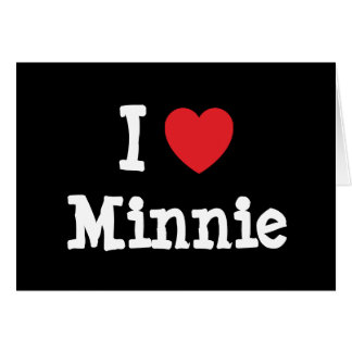 I love Minnie heart T-Shirt Card