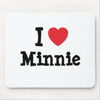 I love Minnie heart T-Shirt Mouse Pad