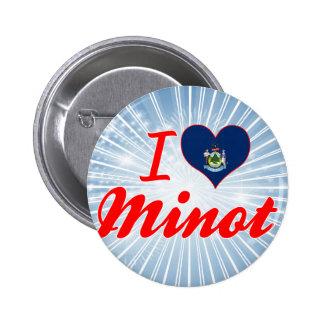 I Love Minot, Maine 2 Inch Round Button