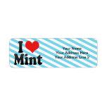 I Love Mint Custom Return Address Label