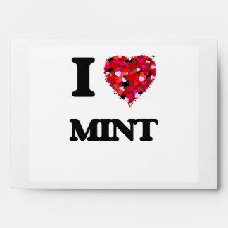 I Love Mint Envelopes