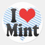 I Love Mint Sticker