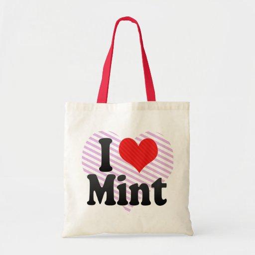 I Love Mint Tote Bag