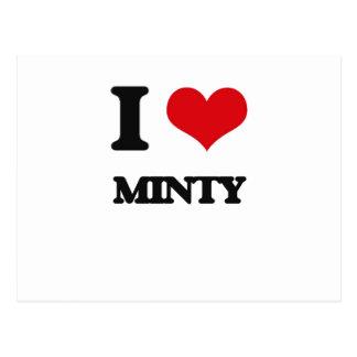I Love Minty Postcard
