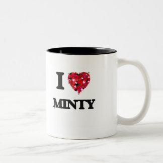 I Love Minty Two-Tone Coffee Mug