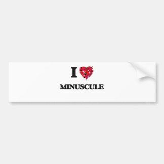 I Love Minuscule Car Bumper Sticker