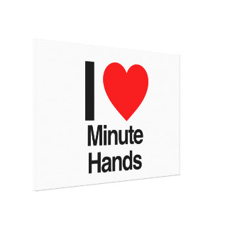 i love minute hands canvas print