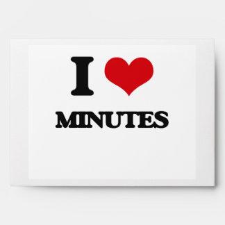 I Love Minutes Envelope