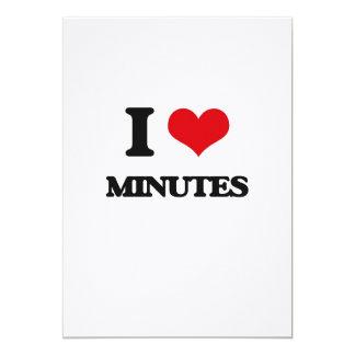 "I Love Minutes 5"" X 7"" Invitation Card"