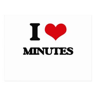 I Love Minutes Postcard