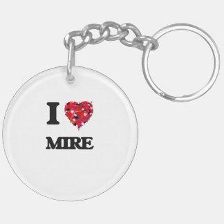 I Love Mire Double-Sided Round Acrylic Keychain
