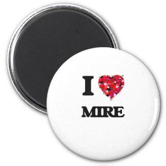 I Love Mire 2 Inch Round Magnet
