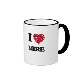 I Love Mire Ringer Coffee Mug