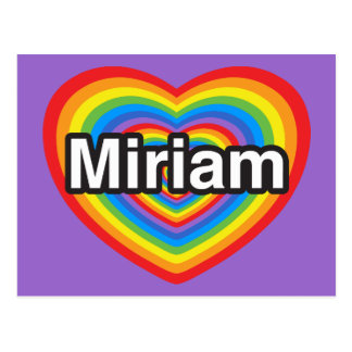 I love Miriam. I love you Miriam. Heart Postcard