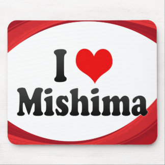 I Love Mishima, Japan Mouse Pad