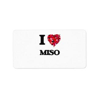I Love Miso food design Address Label