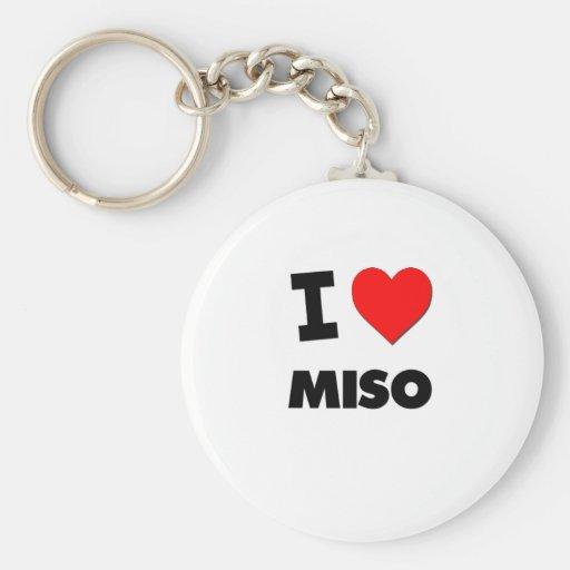 I Love Miso ( Food ) Key Chain