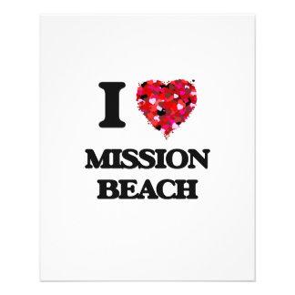 "I love Mission Beach California 4.5"" X 5.6"" Flyer"