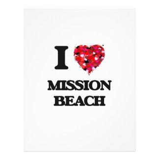 "I love Mission Beach California 8.5"" X 11"" Flyer"